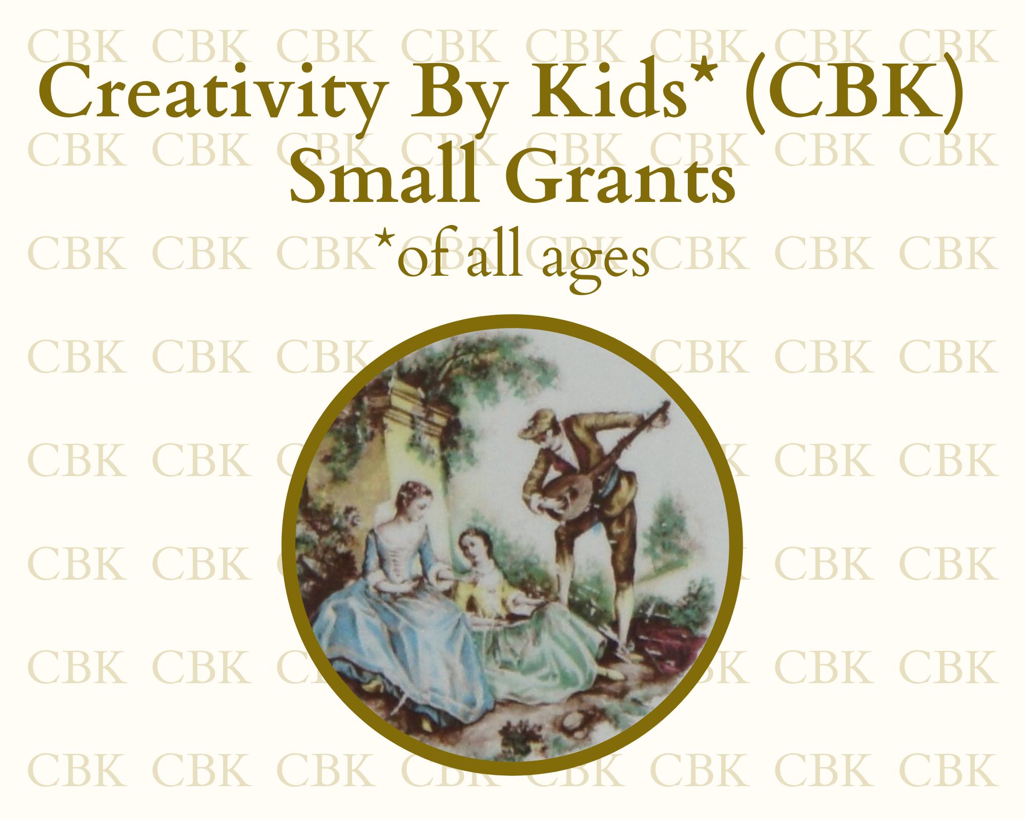 Creativity by Kids (CBK) Grant Awards logo